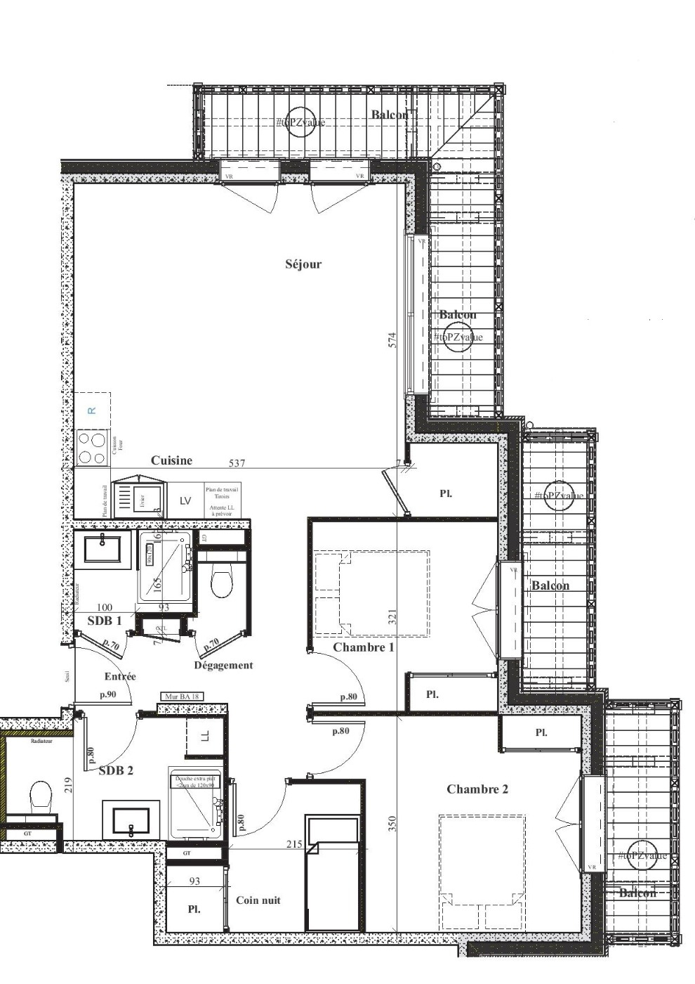 RESIDENCE 'LE GREEN' 4 ROOM FLAT OF 77.29 M2