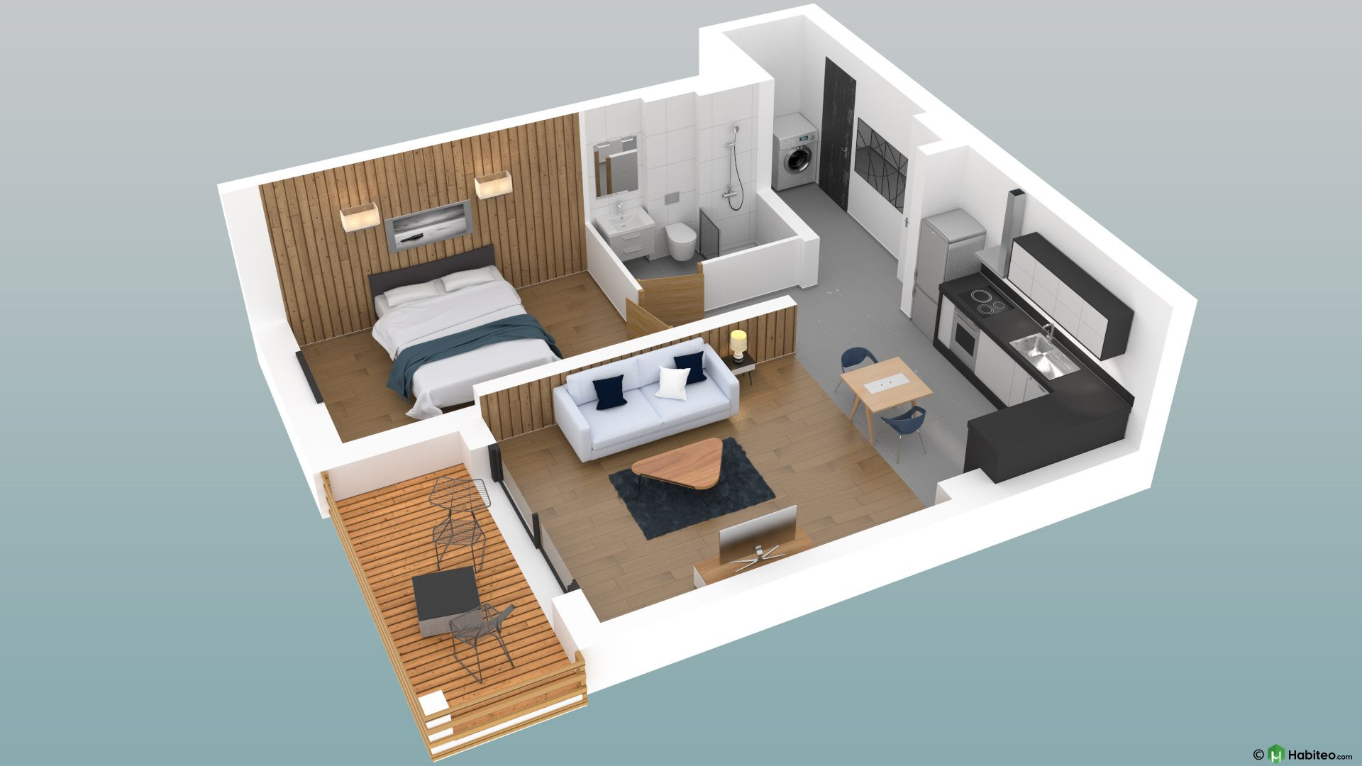 46.70 SQM 2-ROOM NEW BUILD