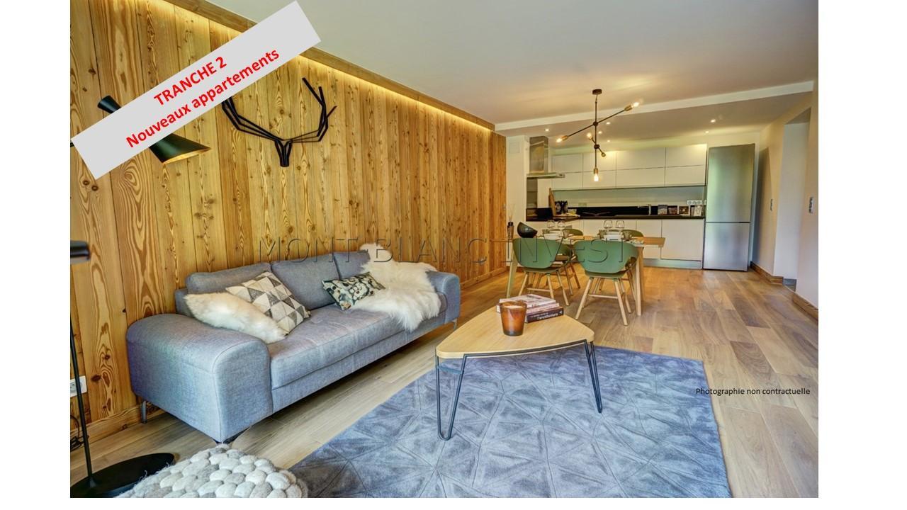 <p>Splendide 3 Pièces en vente de 73 m² + balcon &nbsp;doté d'une vue sur le &nbsp;Mont-Blanc avec son orientation Est. Vendu avec