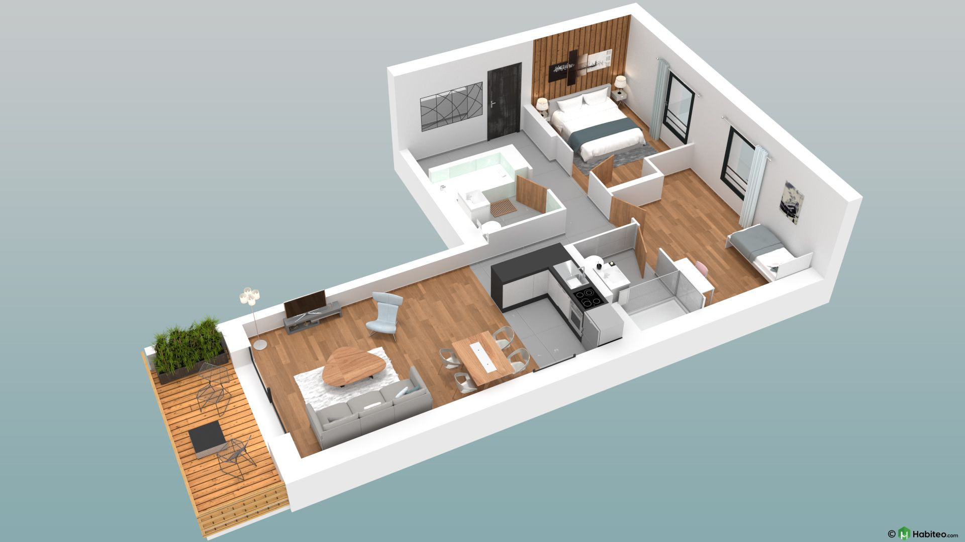 3-ROOM OF 60.90 SQM NEW BUILD