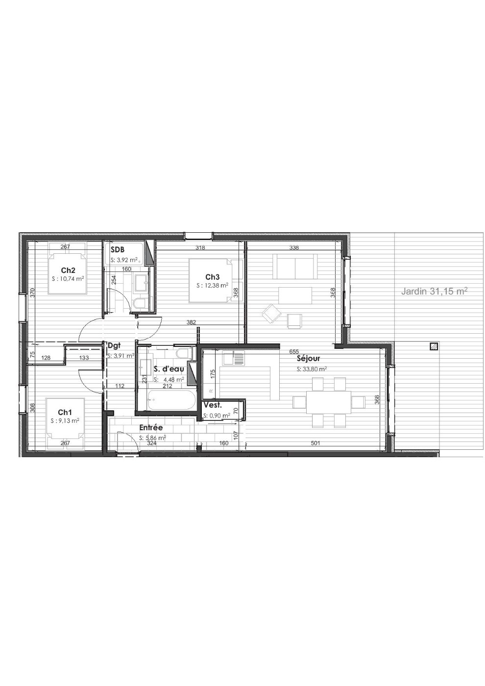 85.4 M2  3-ROOM NEW BUILD